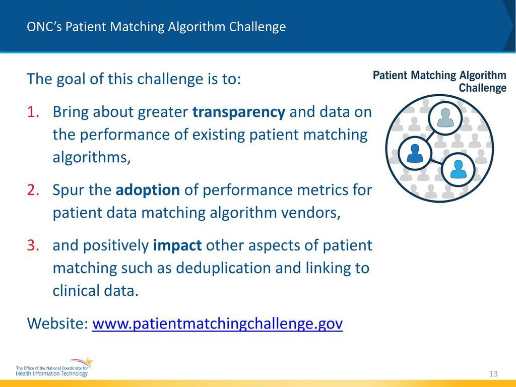 Patient Matching Algorithm Challenge - ppt download