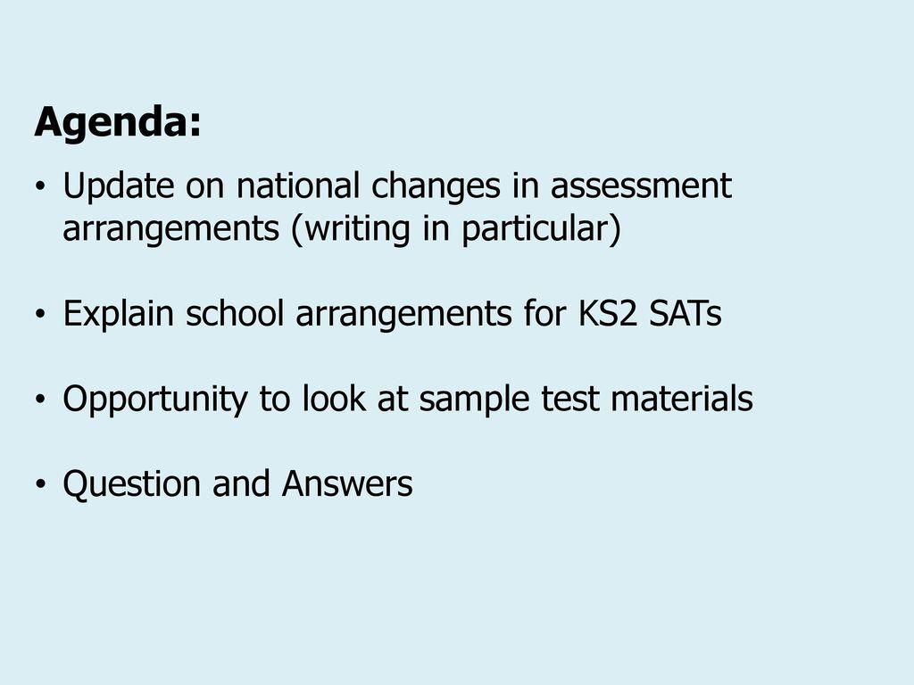 KS2 SATS Guidance for Parents - ppt download