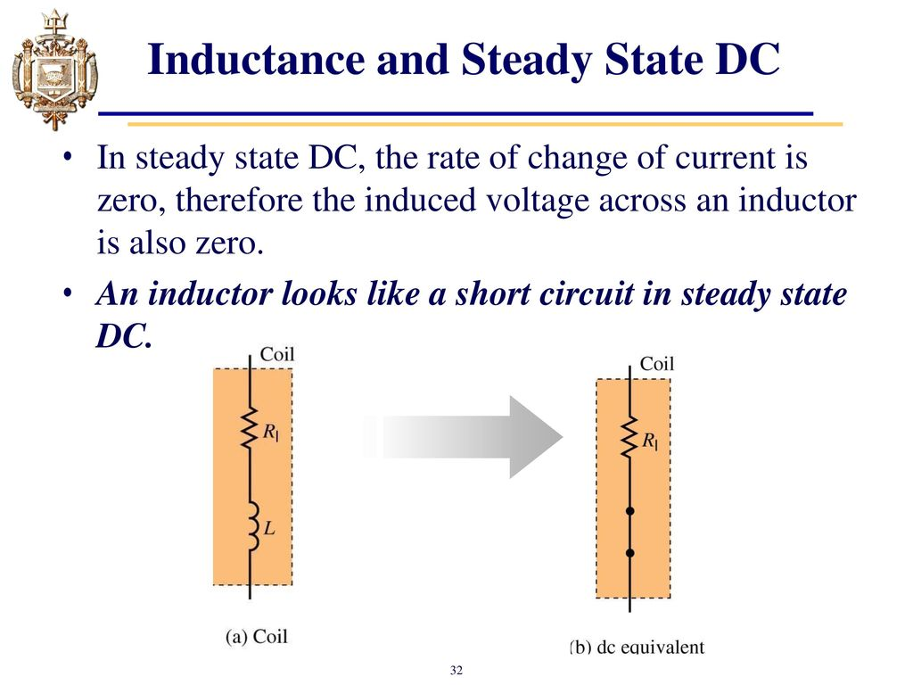Lesson 11 Capacitors Chapter 10 And Inductors Ppt Inductor Equivalent Circuit Of A Real Inductance Steady State Dc