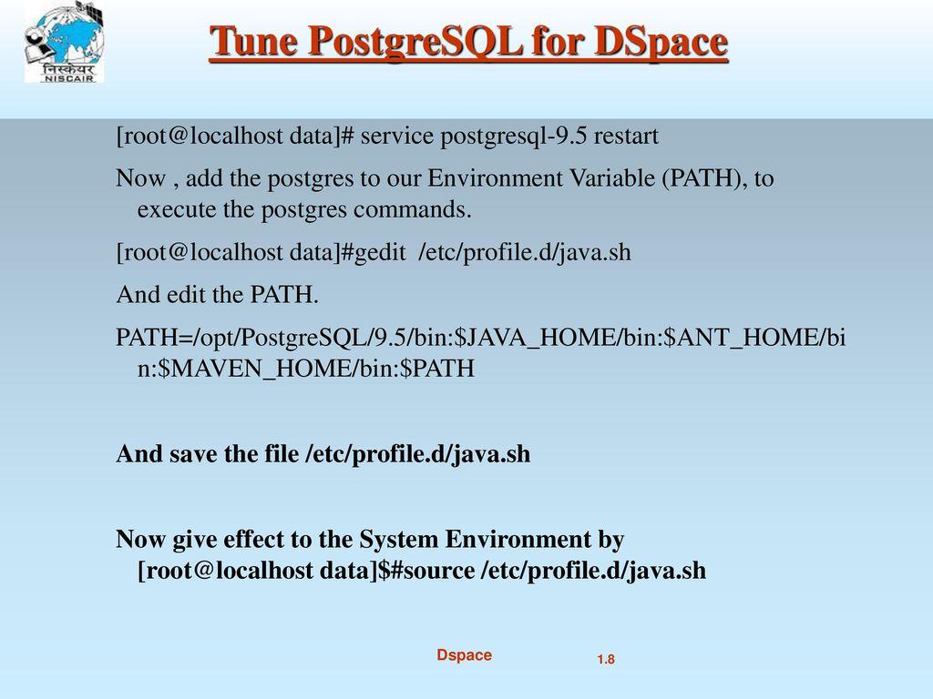 DSpace Installation (dspace 6 0) Mukesh Pund Principal
