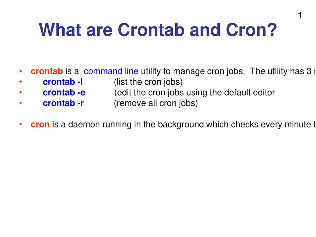 Using Crontab with Ubuntu - ppt download