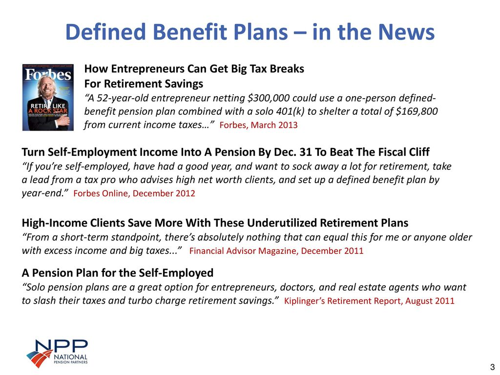 defined benefit plans for medical professionals and successful