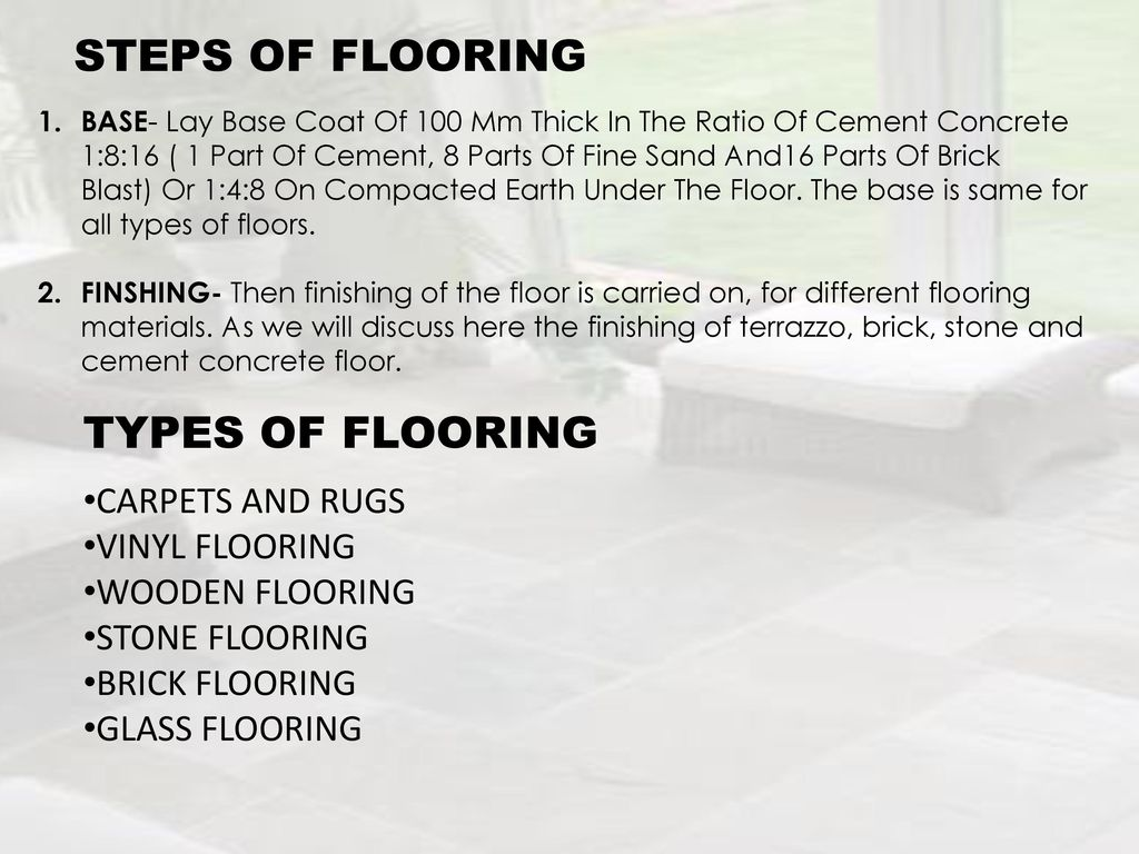 Steps Of Flooring Types Carpets And Rugs Vinyl