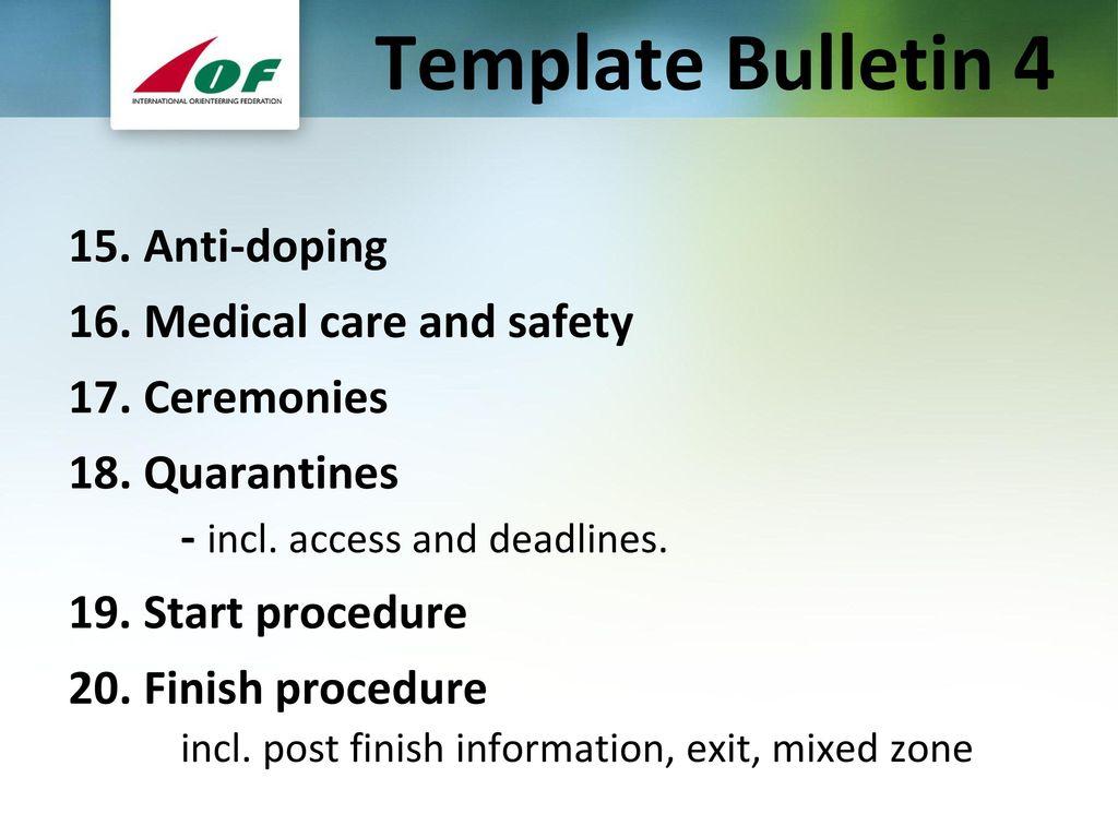 Template bulletins team officials meetings ppt download template bulletin 4 maxwellsz
