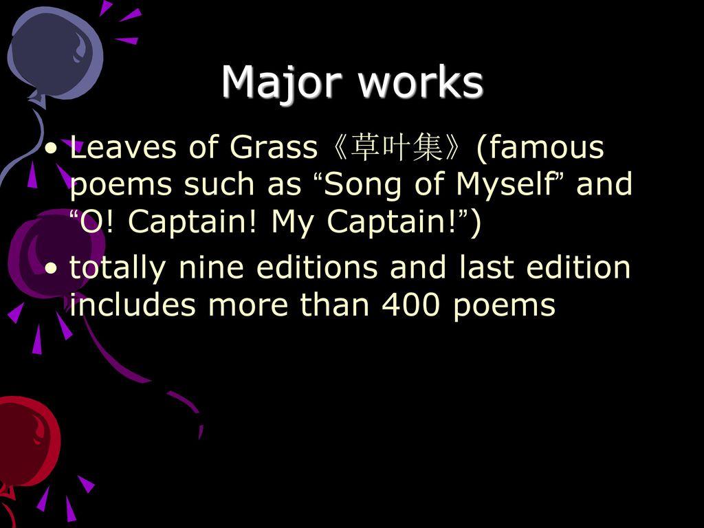 Walt Whitman 1819 Ppt Download