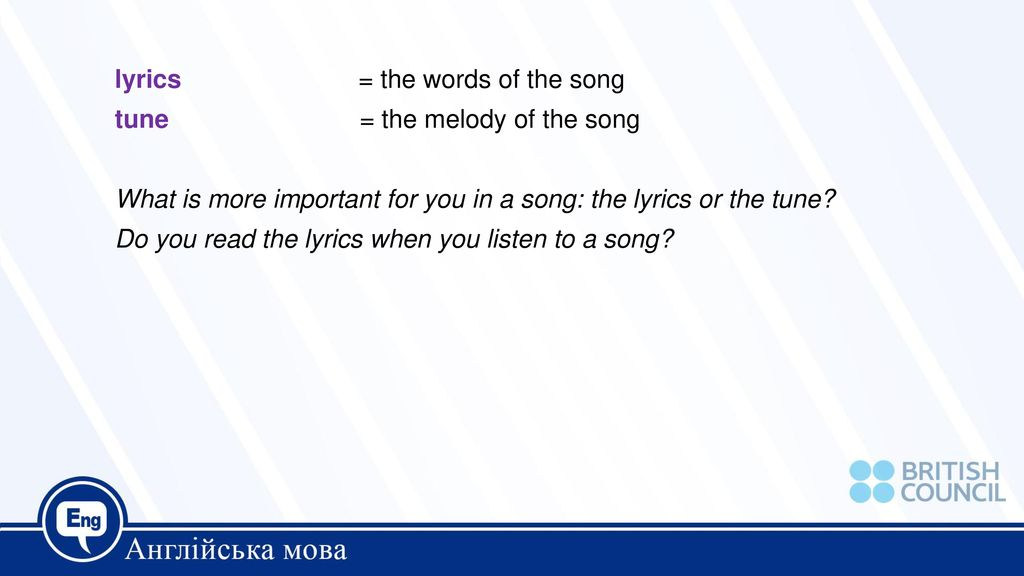 lyrics you in a song
