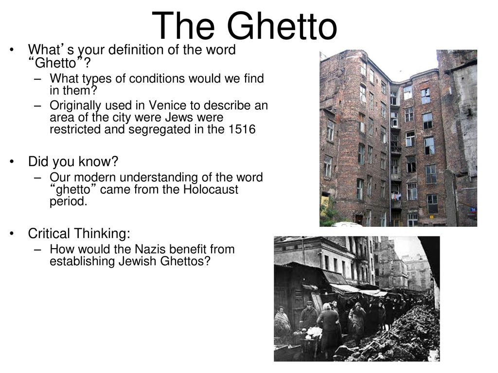 what does the word ghetto mean
