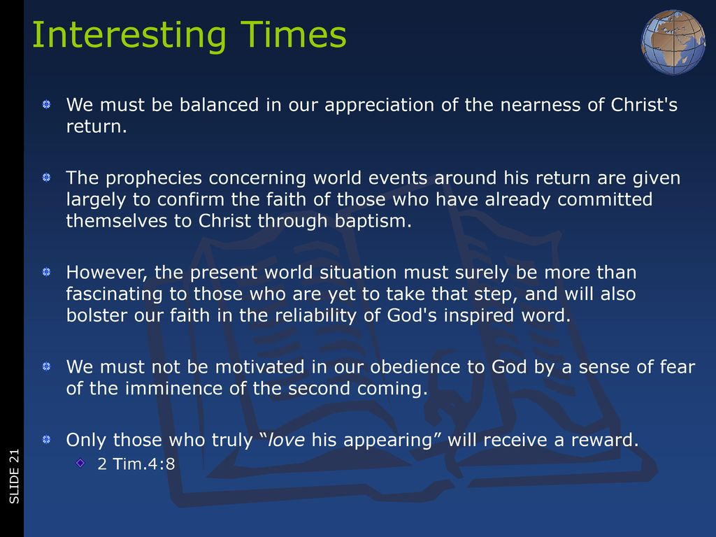 The Nearness of Christ's Return - ppt download