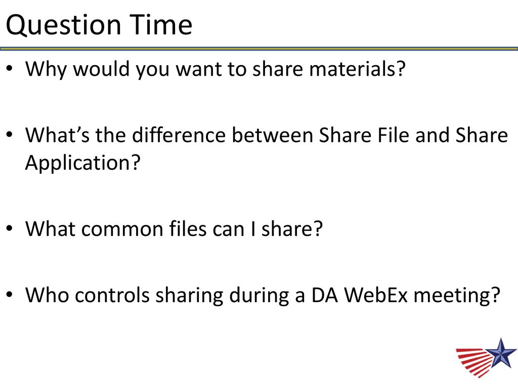 Your DA WebEx Team Presents: - ppt download