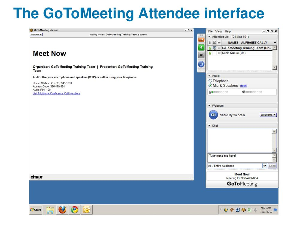 GoToMeeting Attendee Guide - ppt download