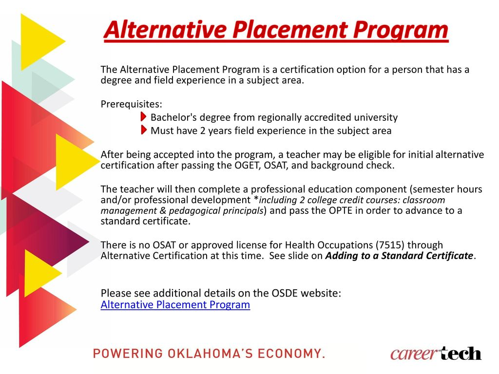 Oklahoma Department Of Career Technology Education Ppt Download