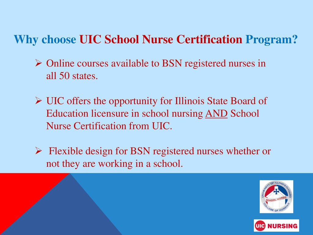 UIC School Nurse Certificate Program - ppt download