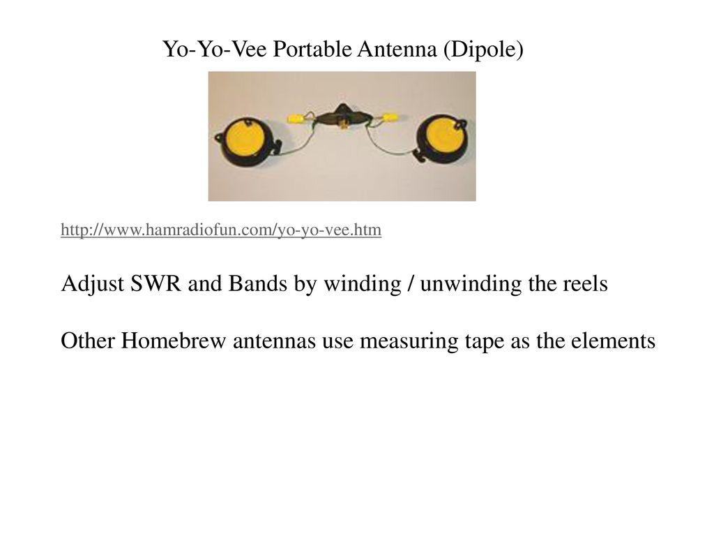 Yo-Yo-Vee Amateur Radio Portable MULTI-BAND Dipole Antenna
