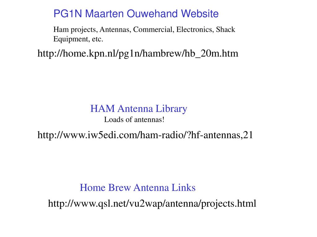 Interesting and Possibly Useful HAM Antenna Info from the Internet
