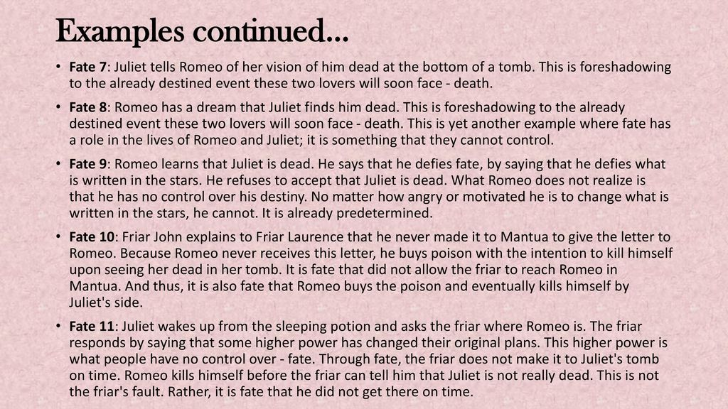 romeo and juliet destiny