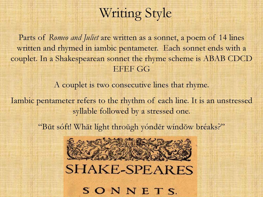 william shakespeare writing style