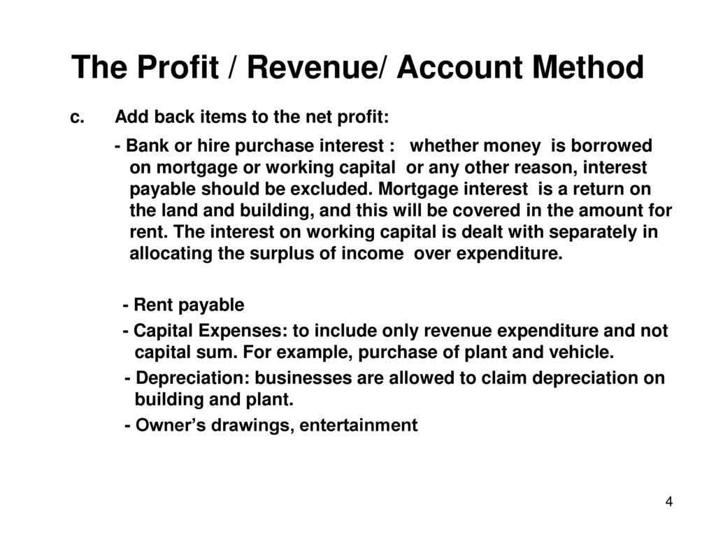 The Profit / Revenue/ Account Method - ppt download