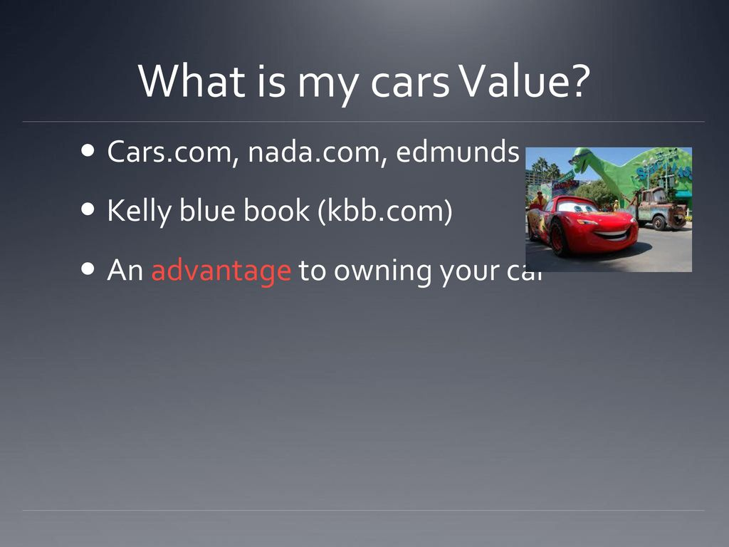 Kbb Com Cars Value >> Selling Buying A Car Ppt Download