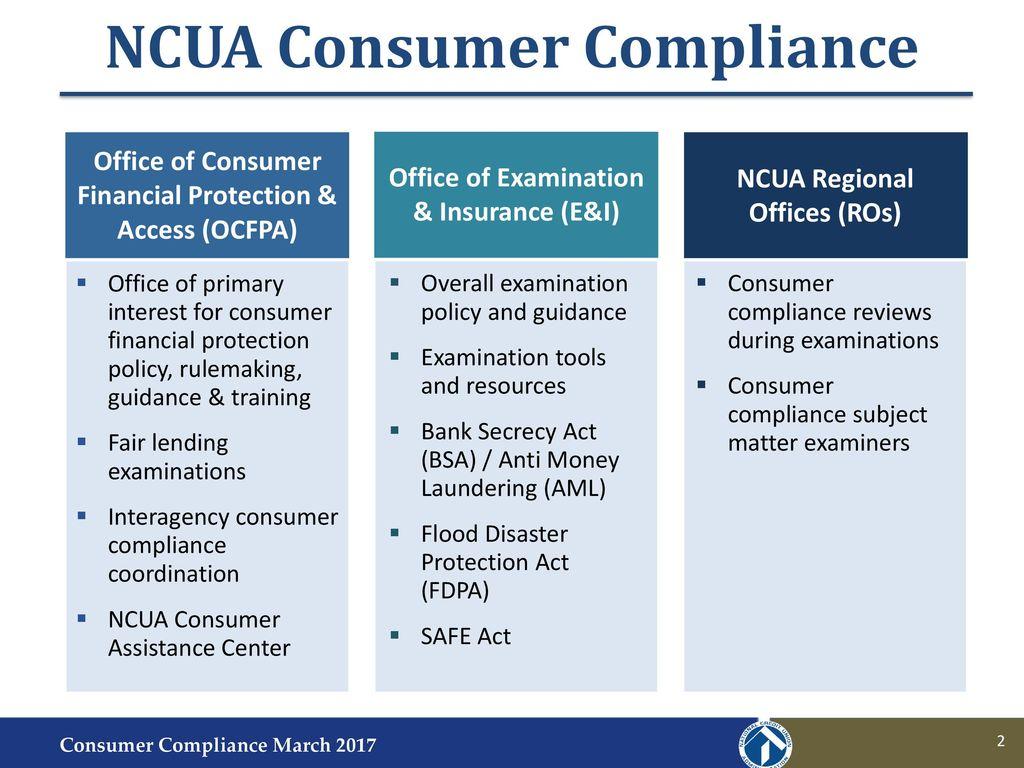 NCUA Consumer Compliance