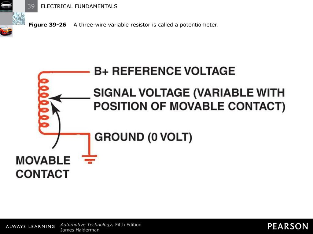 Electrical Fundamentals Ppt Download Wiring A Potentiometer As Variable Resistor 30 Figure 39 26 Three Wire Is Called