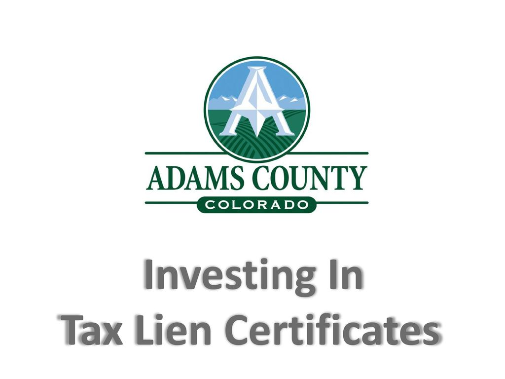Investing In Tax Lien Certificates Ppt Download