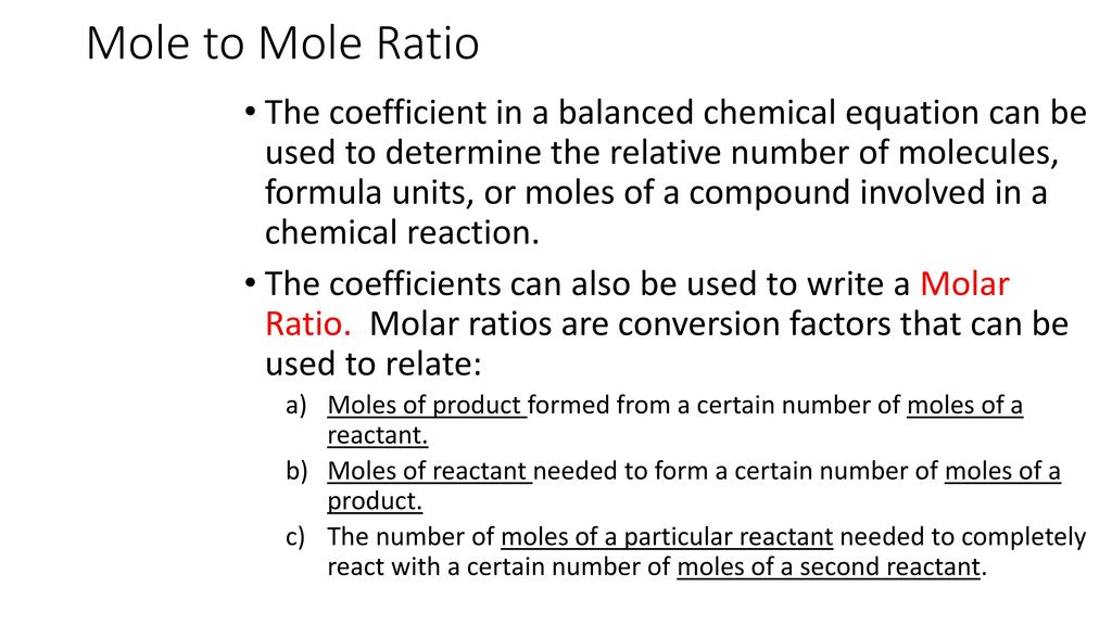 Mole To Ratio Chapter 9 Section Ppt Video Online Download. Mole To Ratio. Worksheet. Molar Ratio Worksheet At Clickcart.co