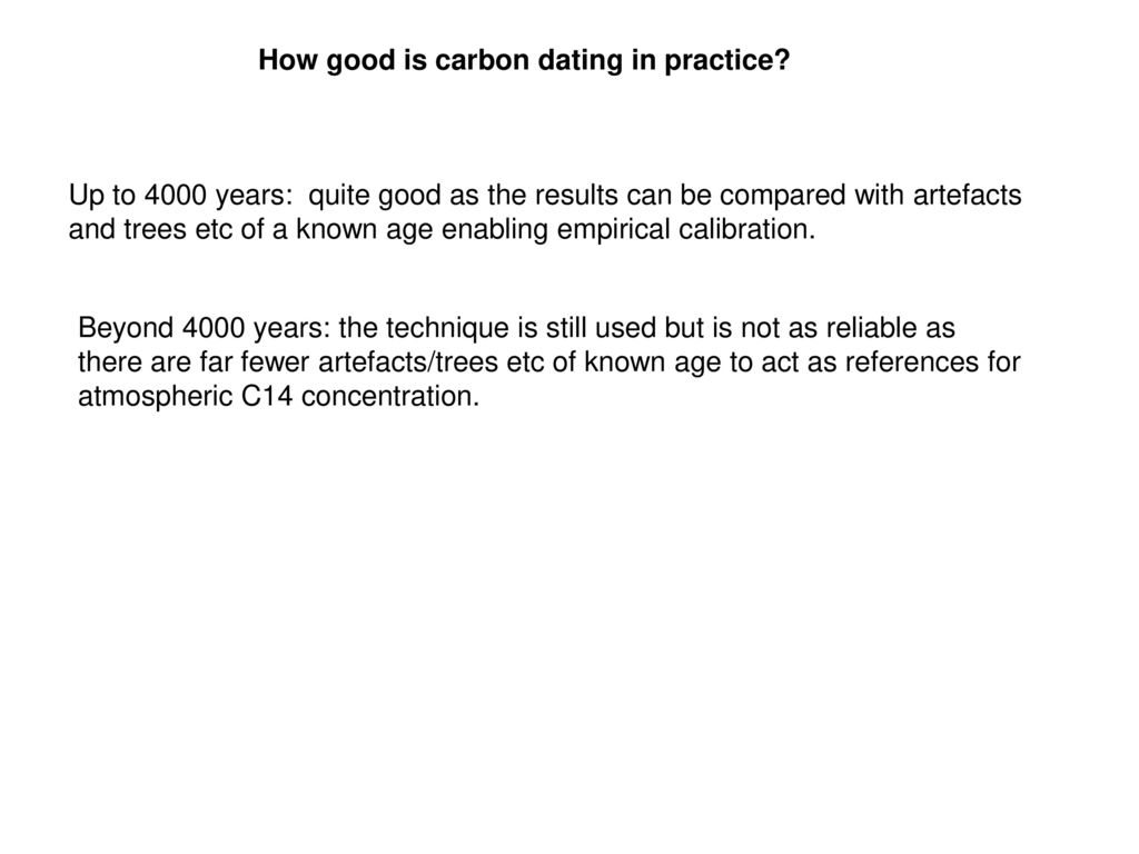 carbon dating artefacts