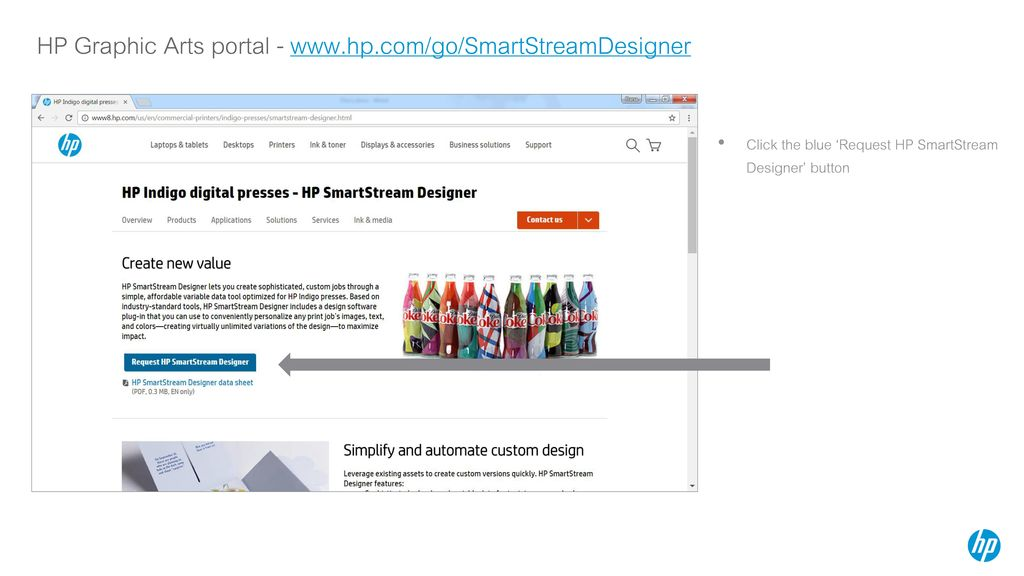 HP SmartStream Designer for Adobe InDesign and HP SmartStream
