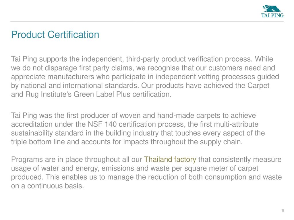 5 Product Certification