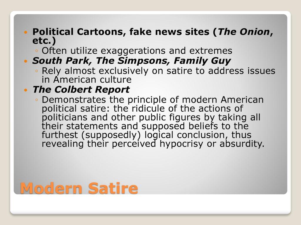 modern political satire