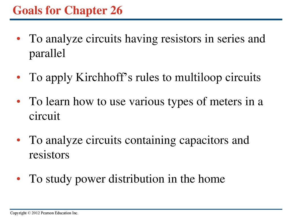 Direct Current Circuits Ppt Download In Parallel And Series Goals For Chapter 26 To Analyze Having Resistors Apply