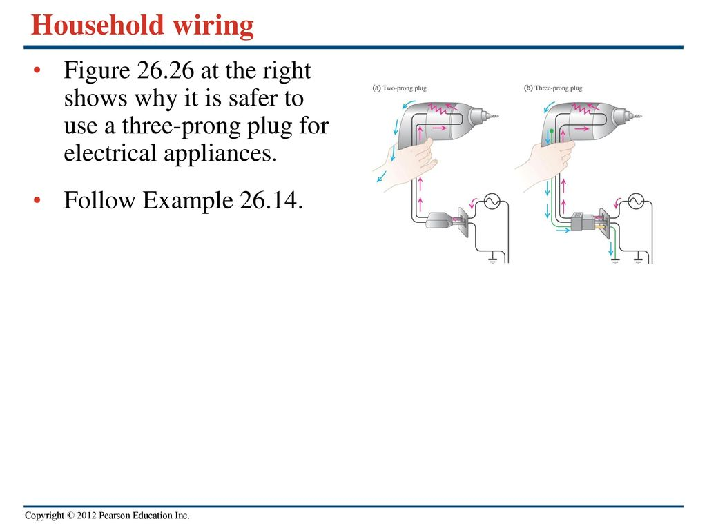 Direct Current Circuits Ppt Download Wiring A Two Prong Plug Household Figure At The Right Shows Why It Is Safer To Use Three
