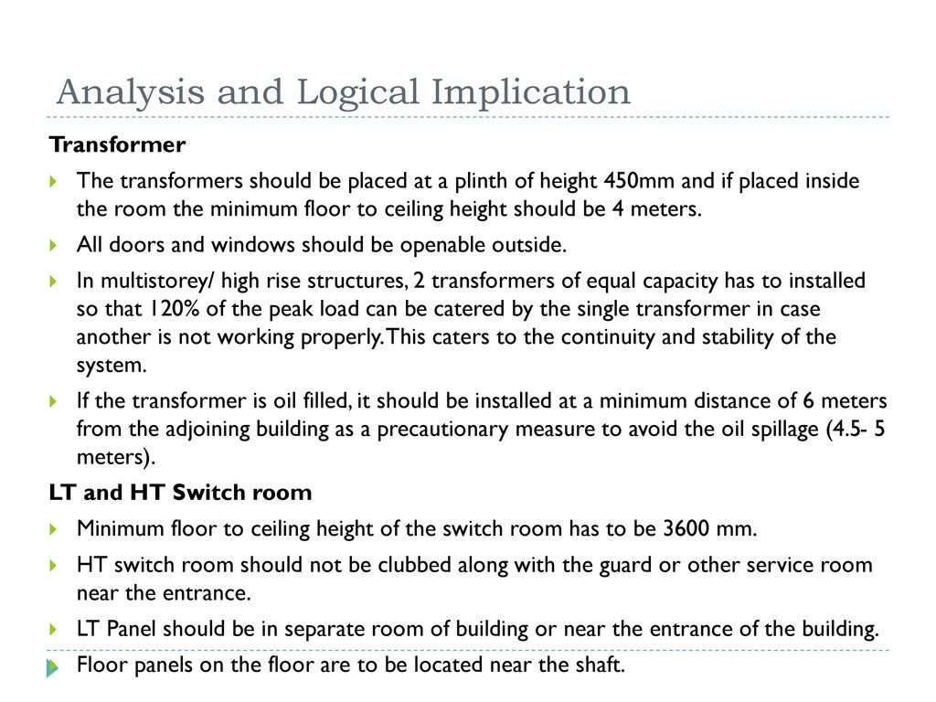 Electrical Distribution System In Office Building Ppt Video Online Singlephase Wiring Installation A Multistory 31 Analysis And Logical Implication