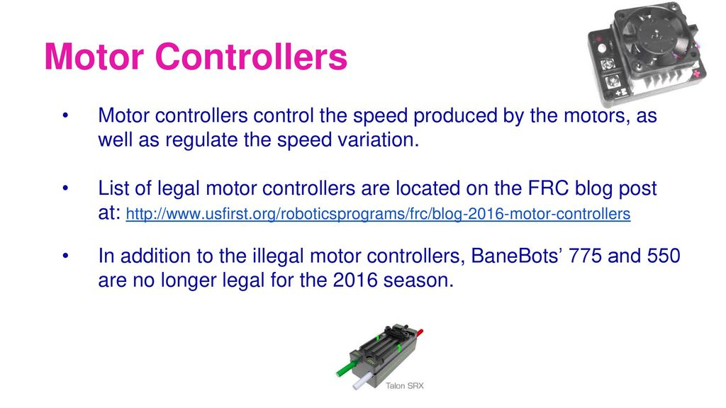 The FRC Control System Brought to you by the electrical subteam of ...