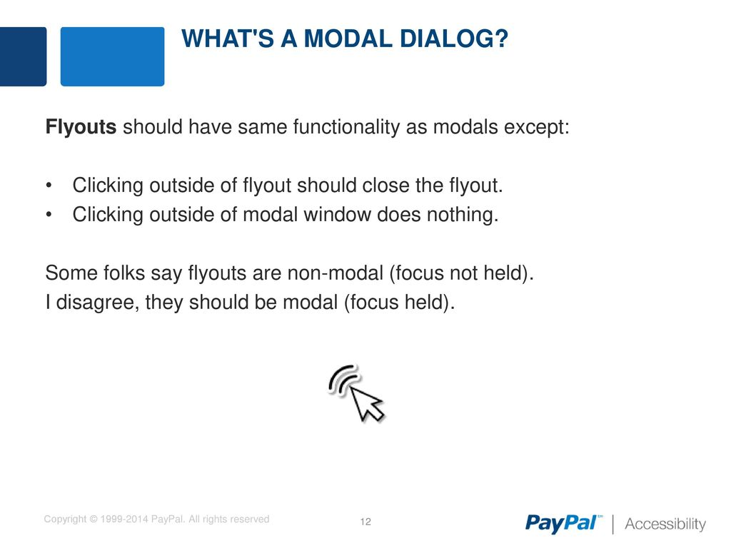 Developing a Web Accessible Modal Dialog - ppt download