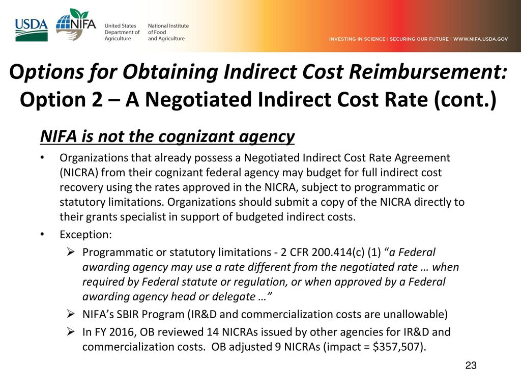 Indirect Costs And The Impact Of The Uniform Guidance 2 Cfr 200