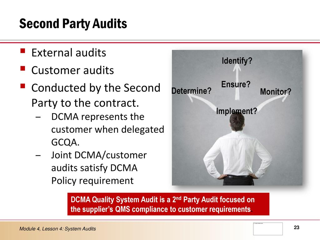 Second Party Audits External Customer