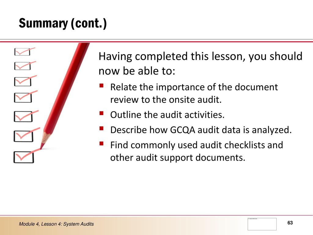 LESSON 4 Quality System Audits - ppt video online download