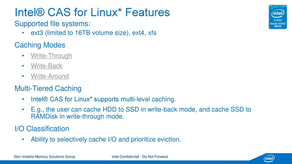 Intel® Cache Acceleration Software (Intel® CAS) for Linux