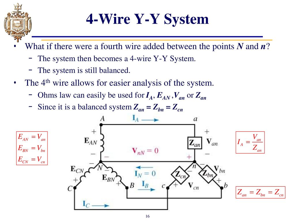 Lesson 31 Three Phase Sources And Loads Ppt Download Wire Or Four Single 240 Volt 60 Hz A 208 4 Y System What If There Were Fourth Added Between The Points