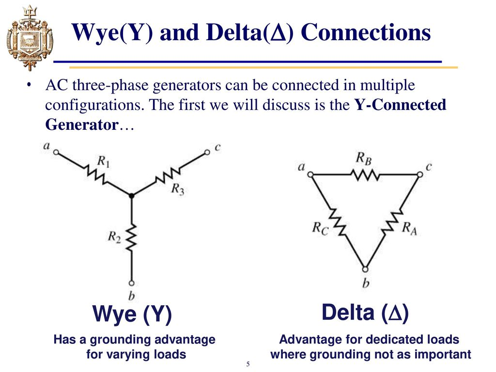 Lesson 31 Three Phase Sources And Loads Ppt Download 3 Generator Wiring Connections Wyey Delta 6 Y Connected If The