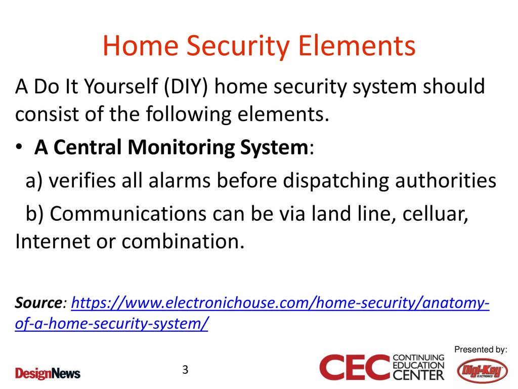 Prototyping Home Automation Concepts Ppt Download Alarms Entry Alarm Circuit 3 Security Elements