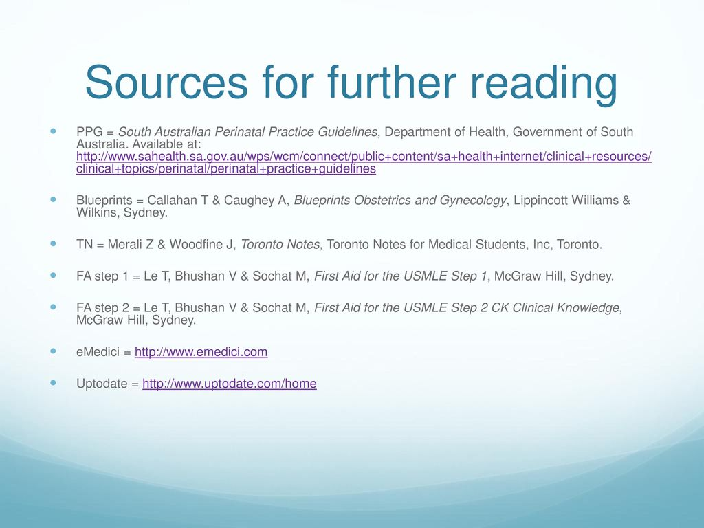 AMSS teaching series: OBGYN revision - ppt download