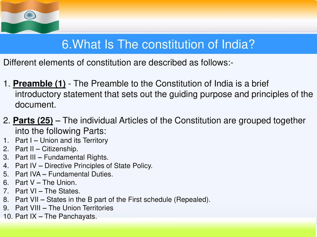 INDIAN CONSTITUTION  - ppt download