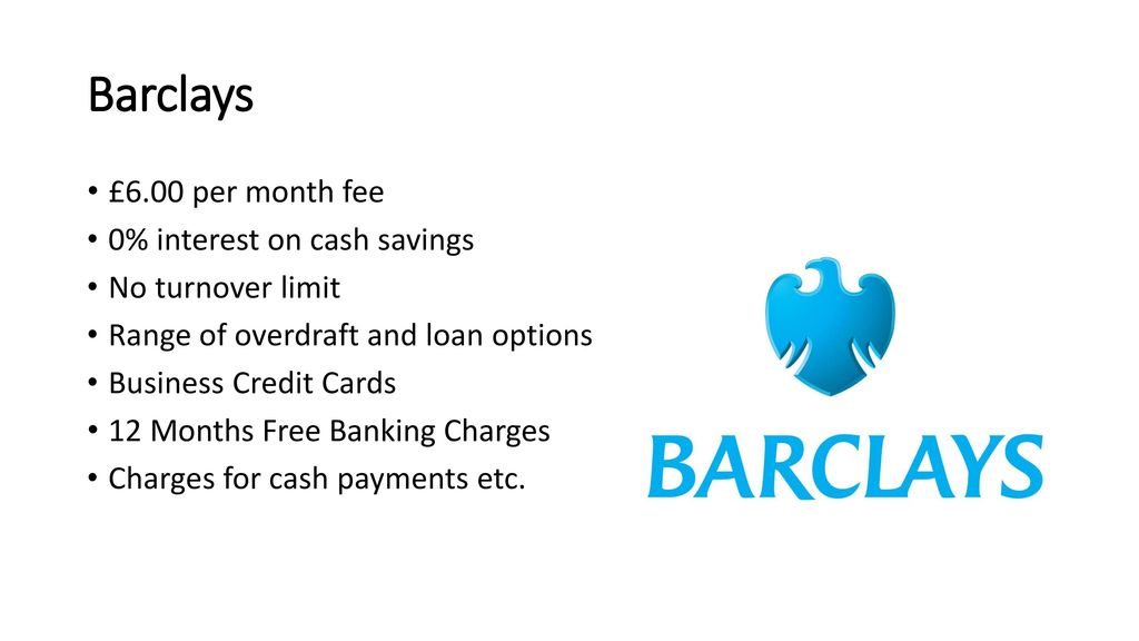 Business finance funding business banking ppt download barclays 600 per month fee 0 interest on cash savings reheart Images