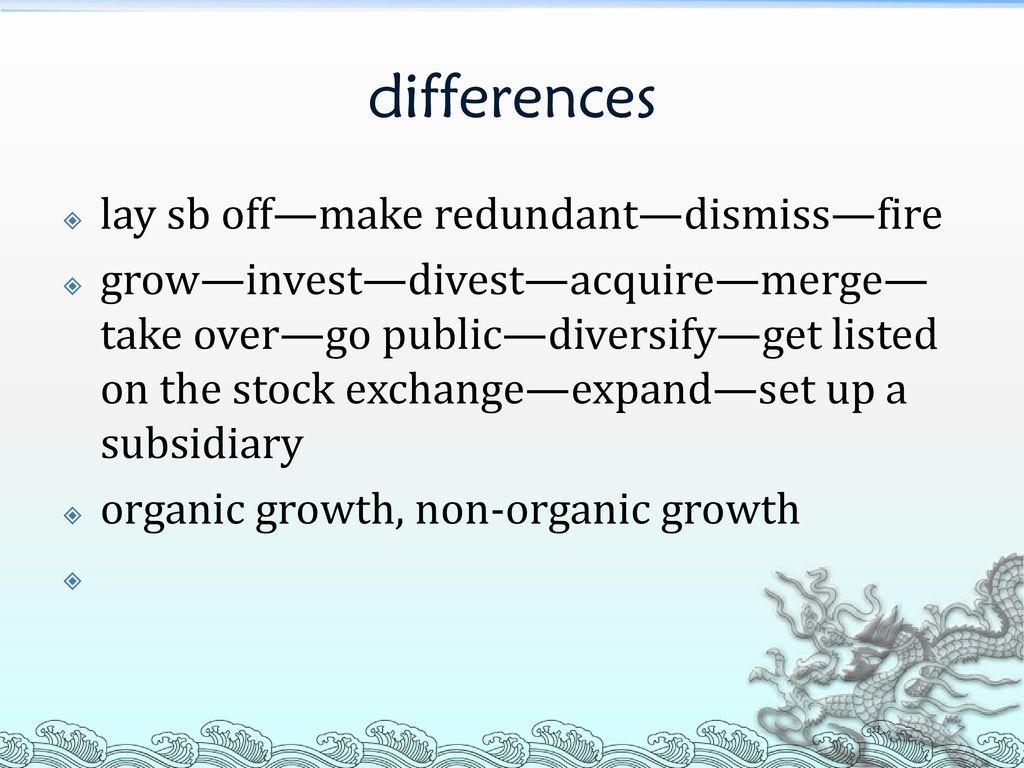 non organic growth