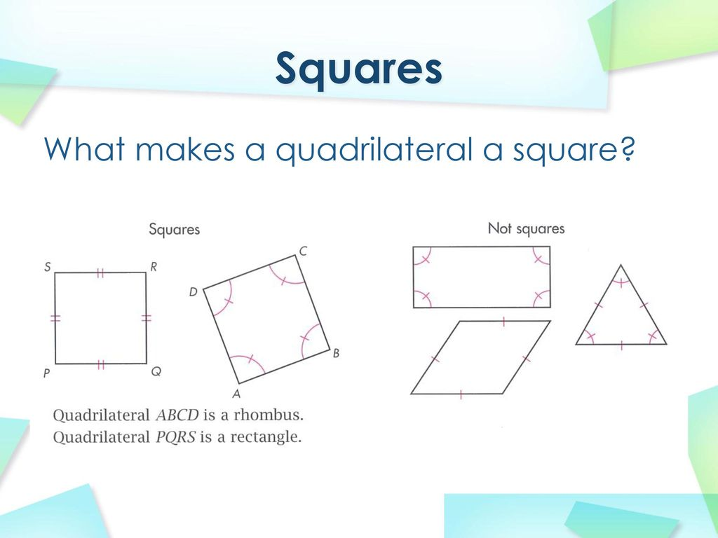 Rhombuses Rectangles And Squares Ppt Download