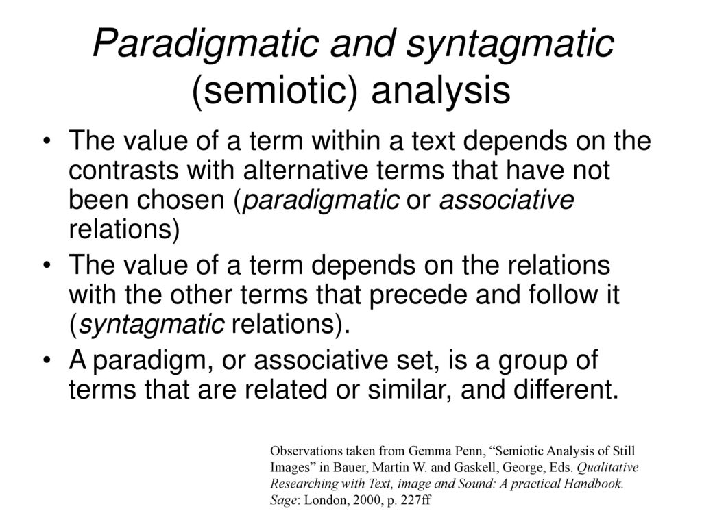 what is a paradigmatic approach