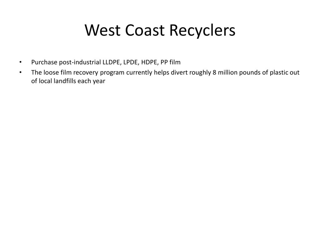 Film Recycling in Canada - ppt download