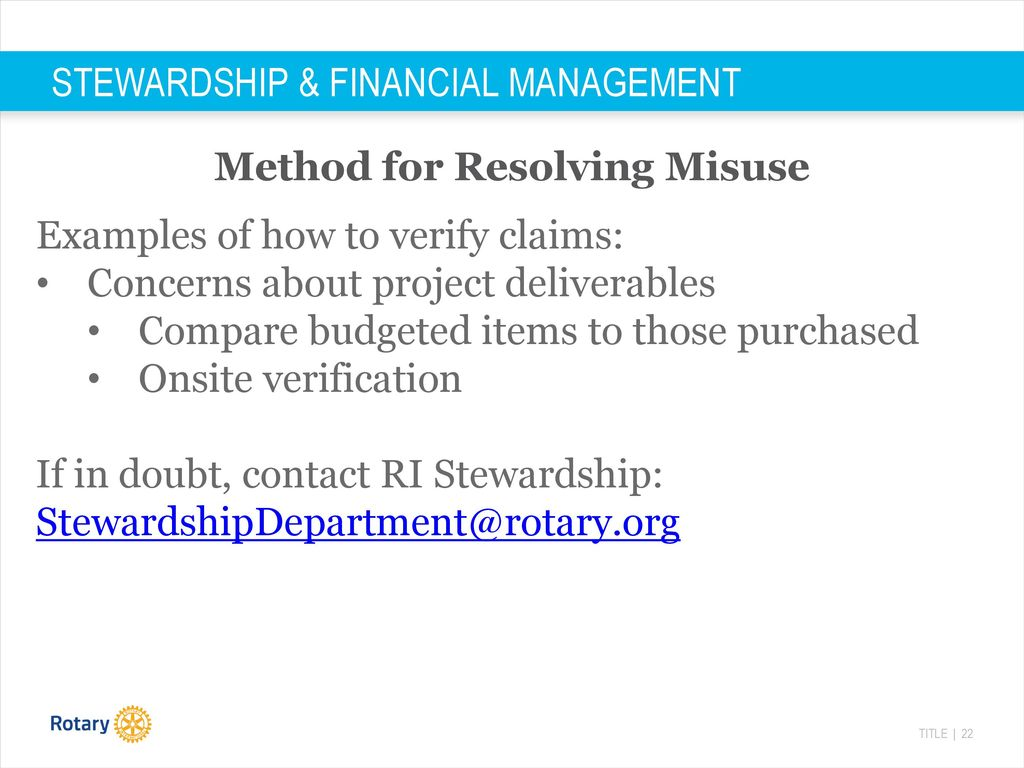 STEWARDSHIP & FINANCIAL MANAGEMENT - ppt download